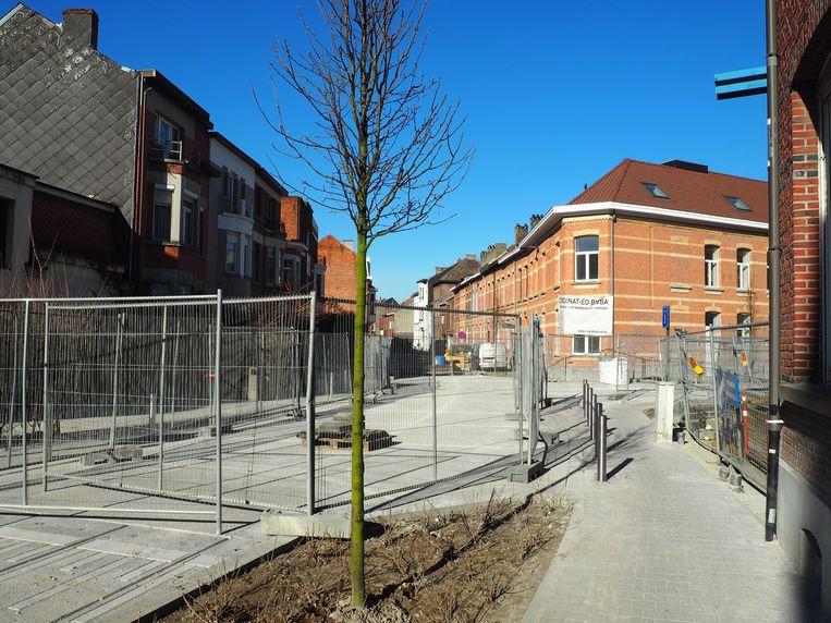 In de Grote Nieuwedijkstraat in Mechelen wordt nu nog gewerkt.