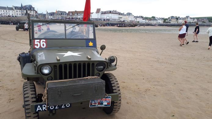 De jeep die Besten en Boerdam meenamen naar Normandië. Dat ging wel grotendeels op een aanhanger.