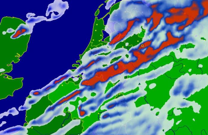 Naar verwachting is de storm Ciara vanavond rond 22.00 uur het hevigst.