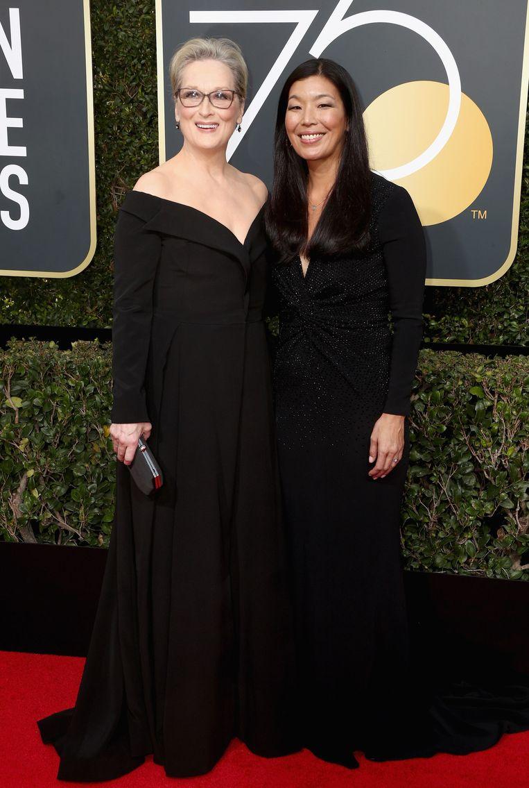 Enkele sterren werden vergezeld door activisten, zoals Meryl Streep, die Ai-jen Poo met zich meebracht, de directrice van de Nationale Alliantie voor Huishoudelijke Werkers die opkomt voor slachtoffers van huiselijk geweld.