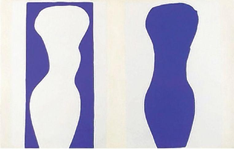 Compositie van papier van Henri Matisse uit het boek 'Jazz'. Bruna heeft een replica, in het Rijksmuseum te zien. Beeld