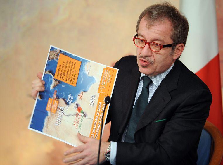 De president van de regio Lombardije Roberto Maroni
