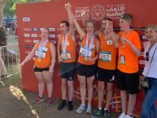 Ook Bryan uit Brielle heeft z'n medaille in Abu Dhabi