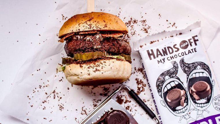 Chocoburgers ahoy! Beeld Hands of my chocolate
