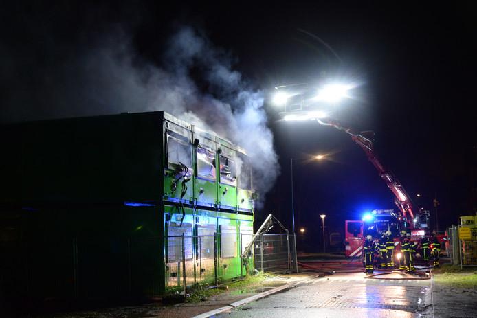 Brand bouwketen Bergen op Zoom.