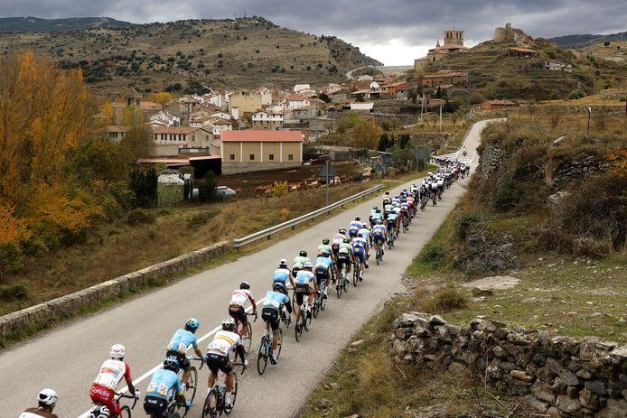 Het Vuelta-peloton tijdens de etappe van gisteren.