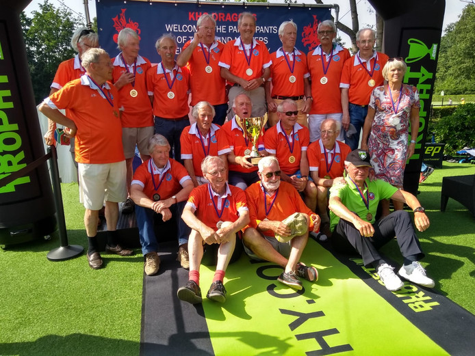 Het 75+-team werd Europees kampioen.