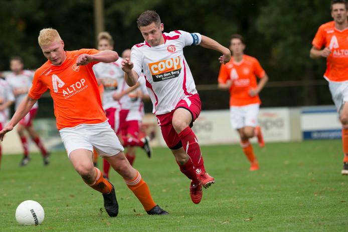 Robin Swaters van Babberich scoorde twee keer tegen Groessen.