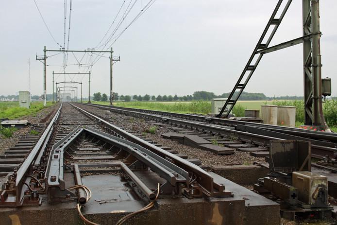 Spoorlijn Zevenbergen - Oudenbosch ter hoogte van draaibrug