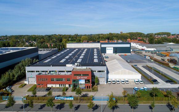 Het bedrijf De Meyer op De Zaat in Temse.