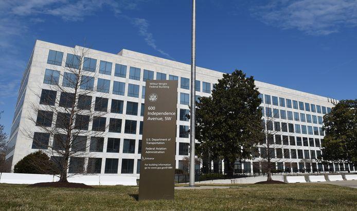 Het gebouw van de Federal Aviation Administration (FAA) in Washington.