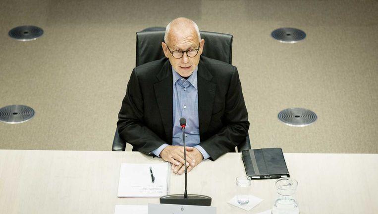 Erik Staal tijdens de parlementaire enquête. Beeld ANP