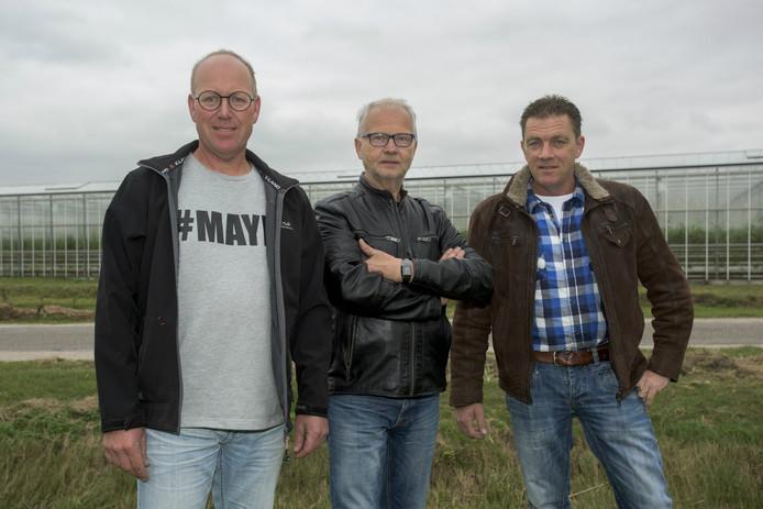 Van links naar rechts: Coriel van Delft, Sjaak Verhoeven en Eddie van Heist.