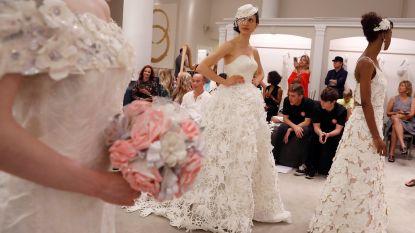 Dames, deze schitterende trouwjurken zijn gemaakt van... toiletpapier