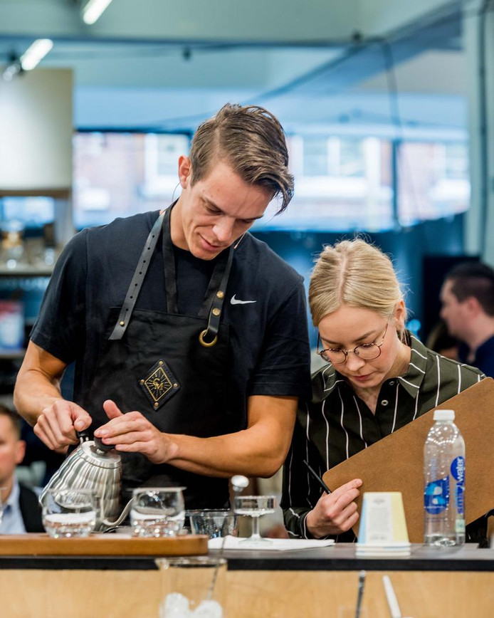 Rob Clarijs tijdens de  Coffee Masters 2019.