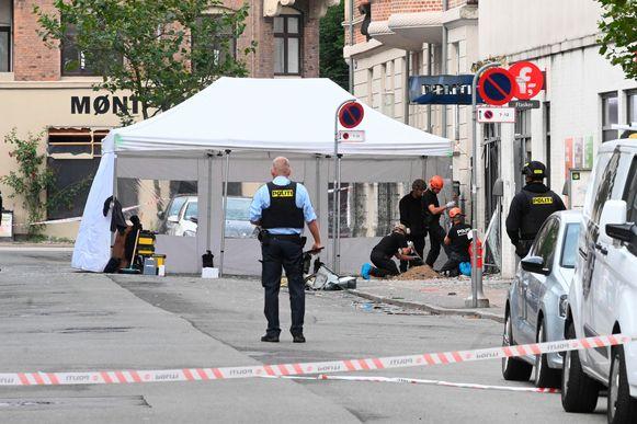 Enkele dagen later vond ook een ontploffing plaats aan een politiekantoor in Kopenhagen (zie foto). Maar volgens Skov is er wellicht geen verband tussen beide explosies.