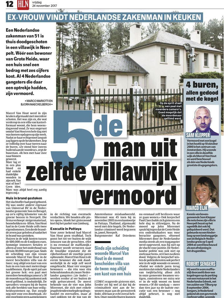 Op 20 november vorig jaar werd een 51-jarige zakenman in zijn villa in Neerpelt doodgeschoten.