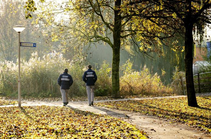 Beveiligers zijn ingezet door de gemeente in het Gijs van Andelpark in Gorinchem.