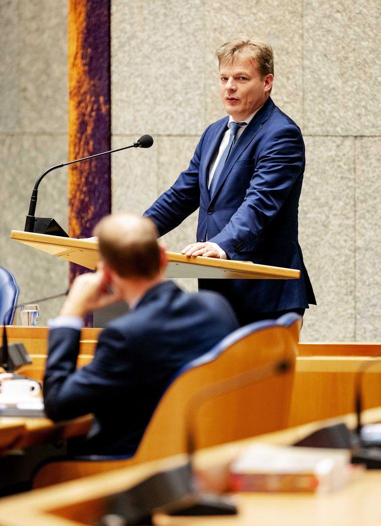 CDA-Kamerlid Pieter Omtzigt stelt al sinds 2017 vragen over de toeslagenkwestie. Beeld ANP