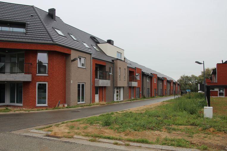 Aan de nieuwe sociale woonwijk langs de Ninovestraat in Burst wordt momenteel de laatste hand gelegd.
