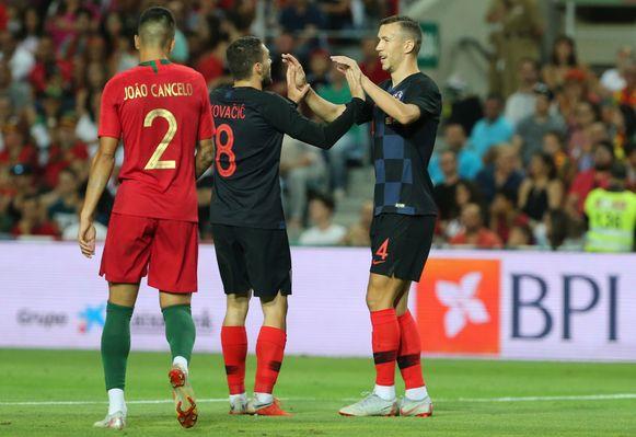 Perisic bracht Kroatië in Portugal op voorsprong.