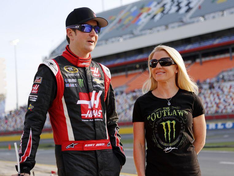 Kurt Busch met zijn ex-vriendin Patricia Driscoll.