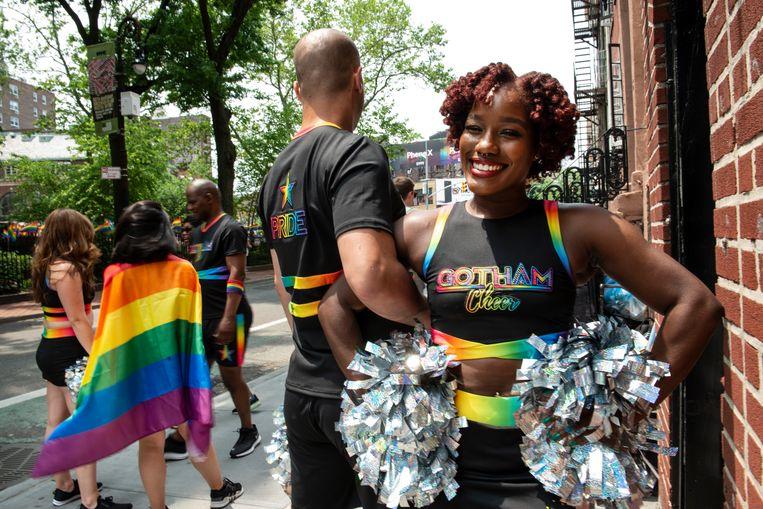 De queer cheerleadergroep Gotham Cheer. Beeld Monique Jaques