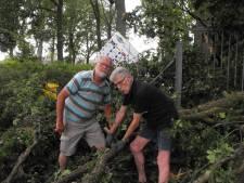 Windhoos richt schade aan in Haaksbergen