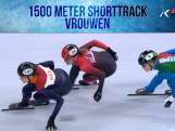 Finale 1500 meter shorttrack vrouwen
