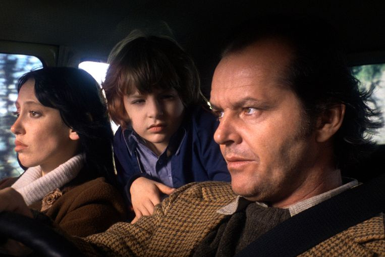 Shelley Duvall, Danny Lloyd en Jack Nicholson in 'The Shining' (Stanley Kubrick, 1980).  Beeld