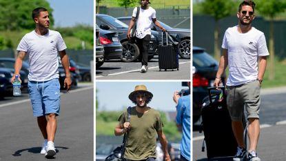 Een t-shirt met opvallend veel gaten, een hip hoedje en een 'nachtmerrie' voor Mertens en Hazard: zo presenteerden de Duivels zich in Tubeke