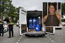 Het busje met drugsgrondstoffen op de parkeerplaats van De Druiventros. Inzet: Janny Mutsaers.