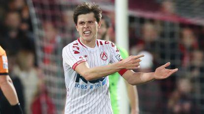 """Woedende KV Kortrijk-kapitein Van der Bruggen pleit voor terugkeer Vertenten en Delferière: """"Ze waren niet voor niets nummer één en twee"""""""