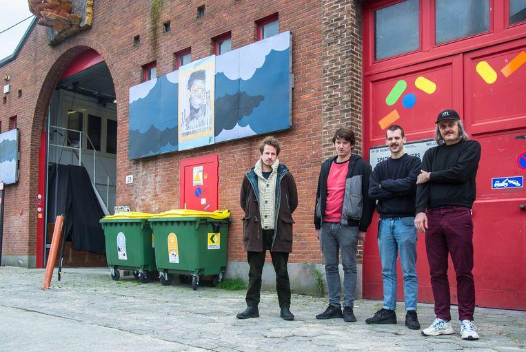 Vier drijvende krachten achter 'In De Ruimte': (van links) Robert Monchen, Matthijs Kimpé, Sam Gunst en Bjornus Van der Borght.
