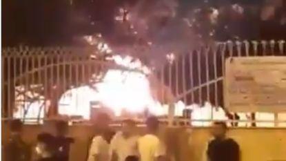 Ziekenhuis in Iran in brand gestoken uit vrees voor coronavirus