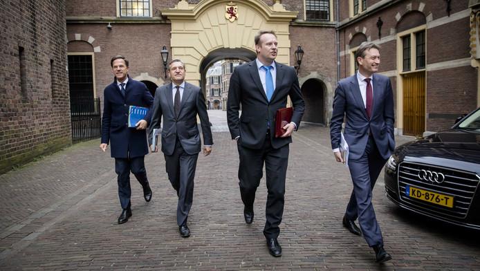 VLNR: Onderhandelaars Mark Rutte, Sybrand Buma, Pieter Heerma en Halbe Zijlstra