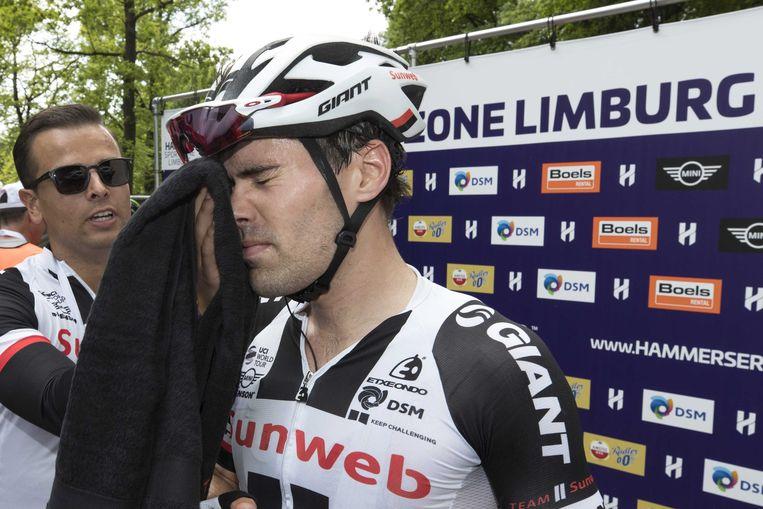 Ook hij was van de partij: Tom Dumoulin, die vorig weekend nog triomfeerde in de Giro d'Italia. Beeld ANP