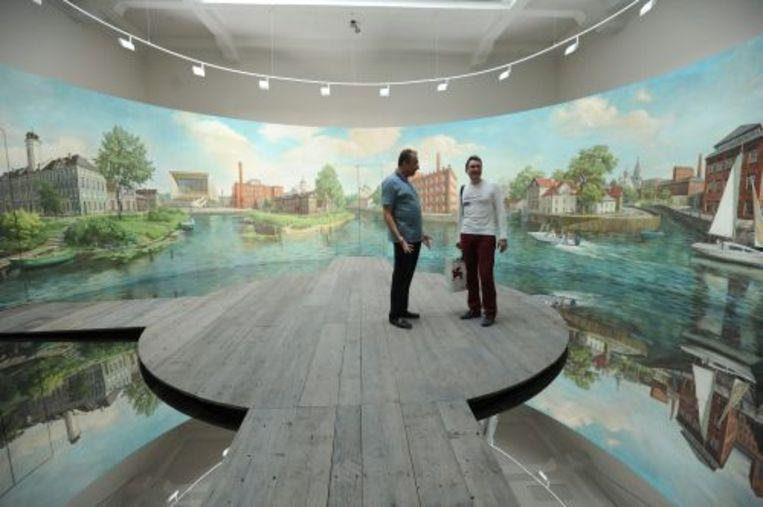 Een kunstwerk tijdens de Biennale van 2010. EPA Beeld