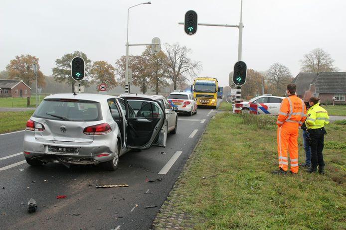 Twee van de drie betrokken voertuigen