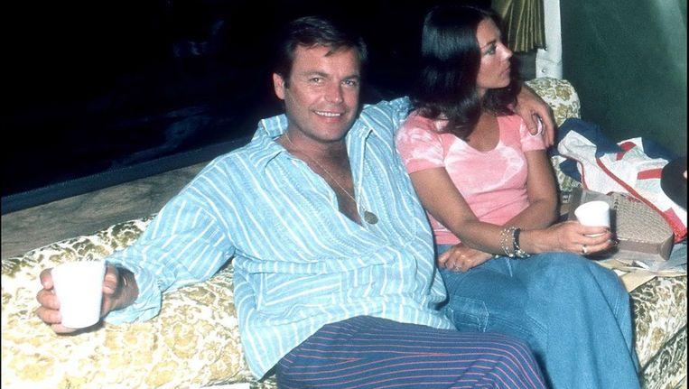 Robert Wagner en zijn vrouw Natalie Wood in 1981. Beeld photo_news