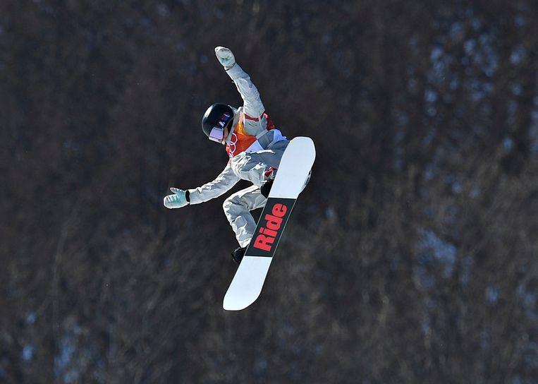 De Amerikaanse Jessika Jenson in actie.
