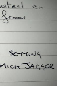 Mick Jagger laat berichtje achter na bezoek aan kasteel Ruurlo