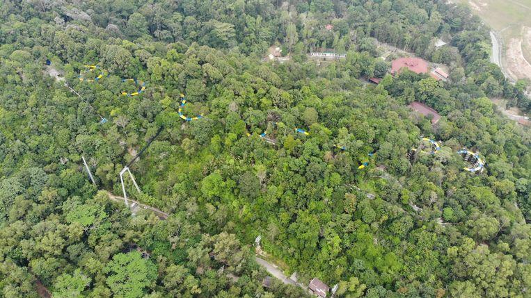 De langste glijbaan ter wereld staat in het Escape-themapark op het Maleisische eiland Penang.