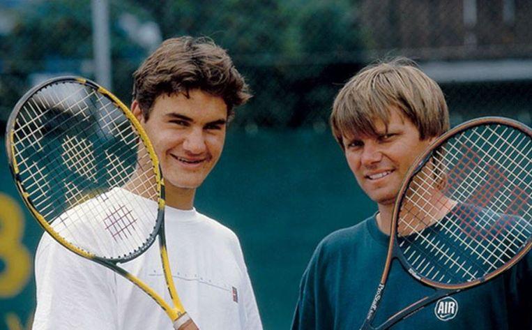 Roger Federer met Peter Carter.