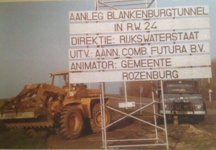 Beeld uit de jaren tachtig, toen Blankenburgtunnel gangbaar was.