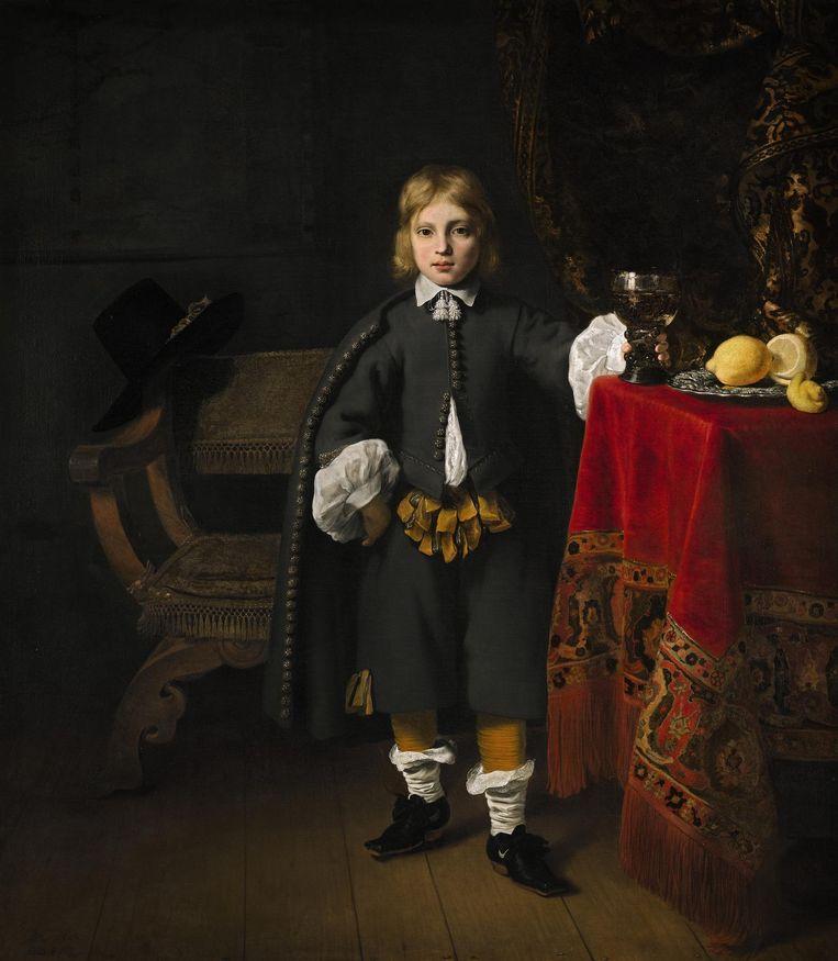 Ferdinand Bol, Jongensportret, 1652. Doek 157 x 150 cm. Londen, National Gallery, particuliere collectie Beeld Amsterdam Museum