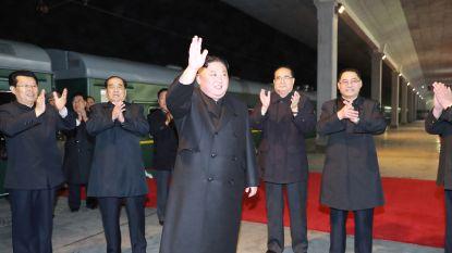 Kim Jong-un per trein op weg naar Rusland