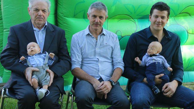 Tweelingsbroers Jules en Louis zorgen voor dubbel viergeslacht
