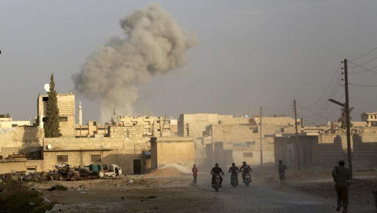 Maaret al-Numan is in handen van Syrische rebellen. Beeld reuters