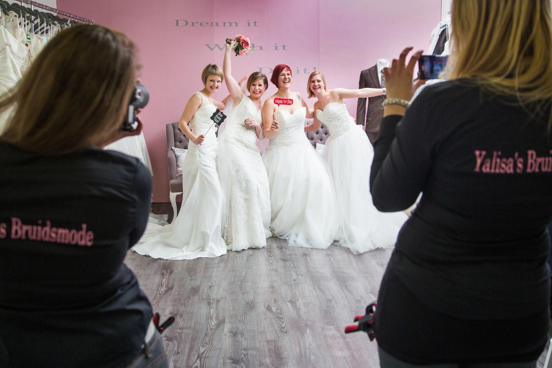 De vier Vlaamse dames tijdens hun uitje. Van links naar rechts: Elke, Tosca, Kim en Tina.